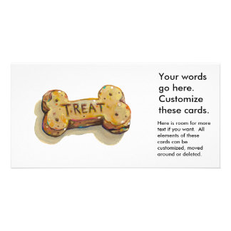 Dog treat cards for dogs parties businesses events photo card