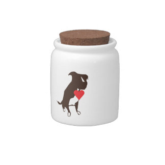 Dog Treat Jar Candy Dishes