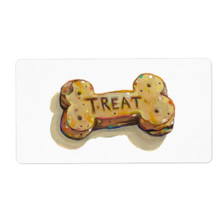 Dog treat stickers fun art for dogs party events label
