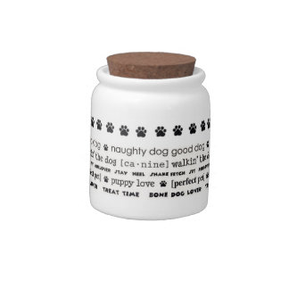 Dog Treats canister Candy Dishes