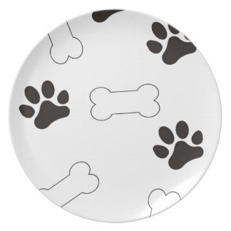 Dog Treats Dinner Plate