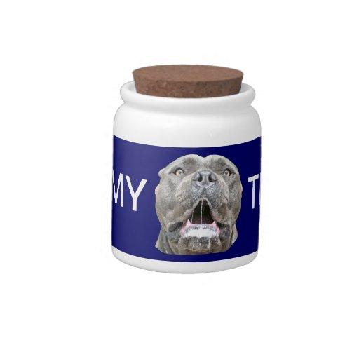 Dog Treats Jar - Cane Corso Mastiff Treat Keeper Candy Jars