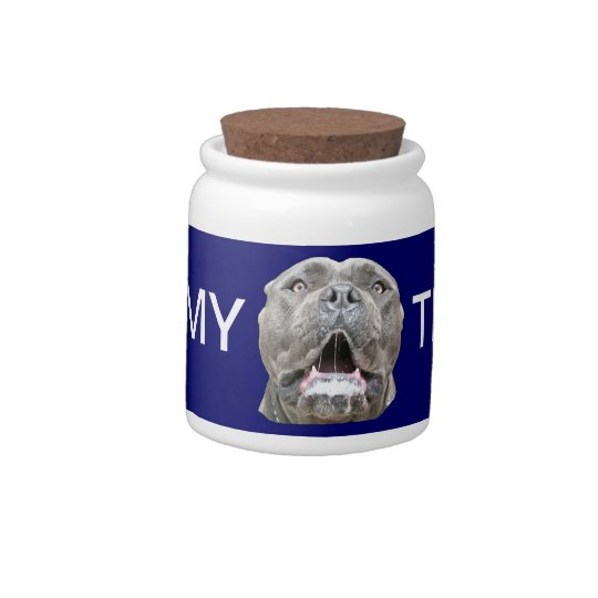 Dog Treats Jar - Cane Corso Mastiff Treat Keeper Candy Jars