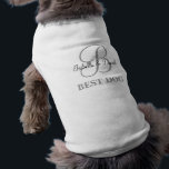 """Dog Tshirt Pet Tshirt Wedding Apparel<br><div class=""""desc"""">Monogram Gifts have a huge selection of customizeable USPS postage stamps,  envelope seal stickers,  greeting cards,  tshirts,  hats,  buttons,  magnets and so much more. These monograms are great for mailing wedding invitations,  Anniversary Party invitations,  graduation announcements,  and suprise birthday parties just to name a few.</div>"""