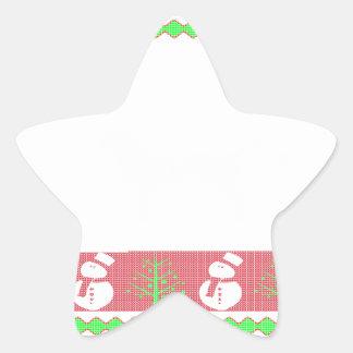 Dog Ulgy Christmas Star Sticker