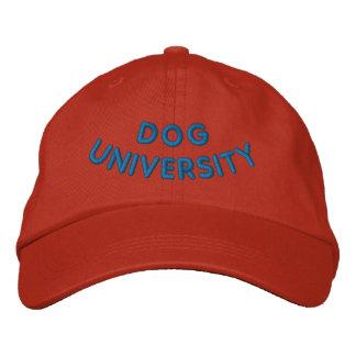DOG UNIVERSITY EMBROIDERED BASEBALL HAT
