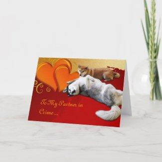 Dog Valentine's Day Card card