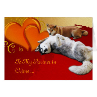 Dog Valentine's Day Card