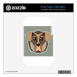 Dog Vector icon Decal For iPod Touch 4G