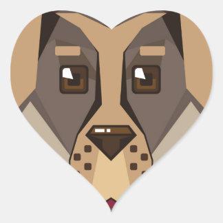Dog Vector icon Heart Sticker