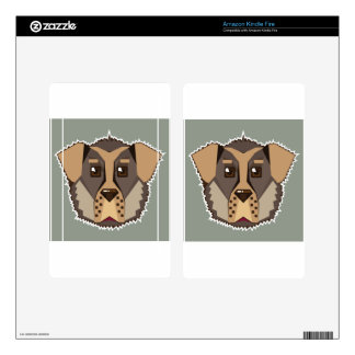 Dog Vector icon Kindle Fire Skin