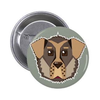 Dog Vector icon Pinback Button