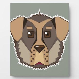 Dog Vector icon Plaque