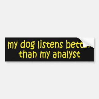 Dog vs. Analyst Bumper Sticker