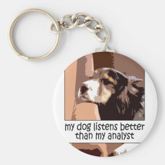 Dog vs. Analyst Keychain