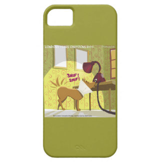 Dog W/E-Collar Sniffing Lamp Funny iPhone5 Case