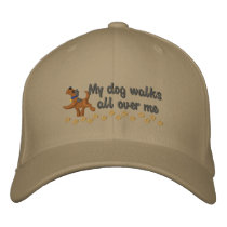 Dog Walk Embroidered Baseball Hat