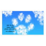 Dog Walk Pet Sitter Business Cards Paw Print Cloud