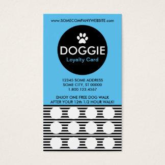 DOG WALK stripe stamp card