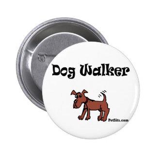 Dog Walker 2 Inch Round Button