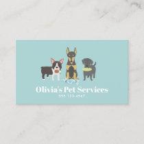 Dog Walker and Pet Sitter Business Card