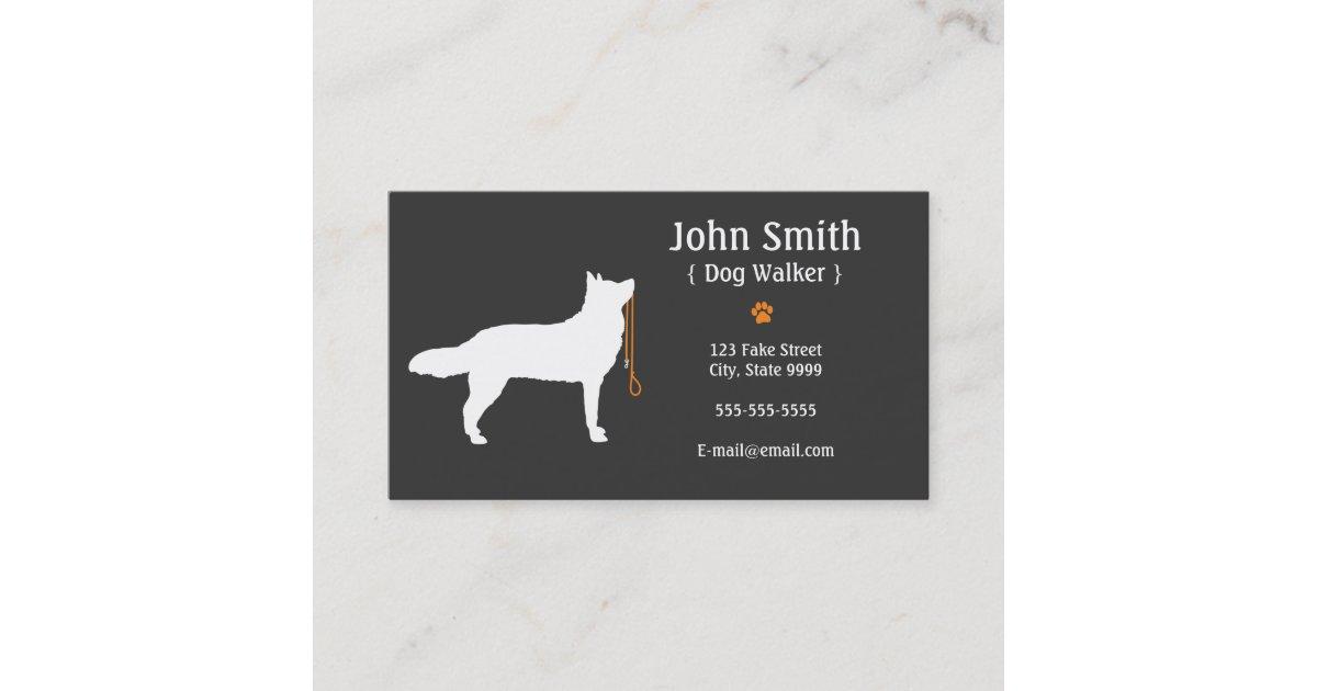 Dog Walker Business Card | Zazzle.com