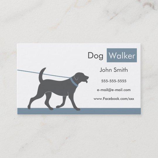 Dog walker business card zazzle dog walker business card colourmoves
