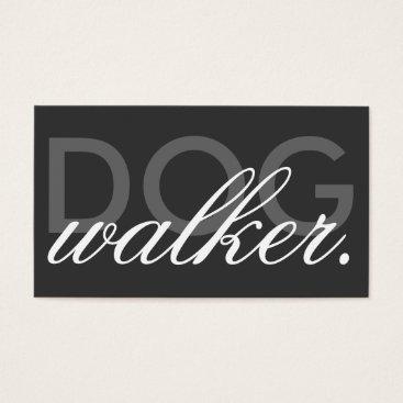 Professional Business dog walker business card