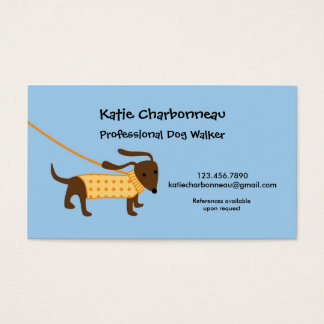 Dog Walker Business Card