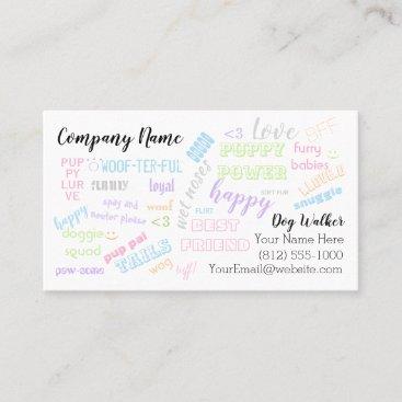 Dog Walker business card. Pet Sitter. Puppies love Business Card