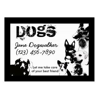 dog walker business card templates