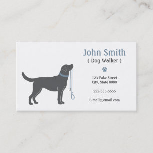Dog walking business cards zazzle dog walker business card colourmoves