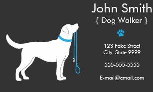 Dog business cards zazzle dog walker business card colourmoves