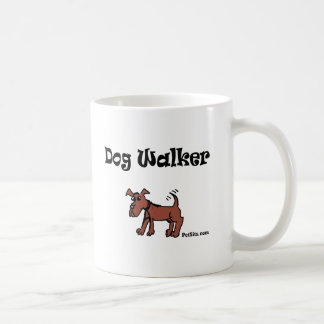 Dog Walker Classic White Coffee Mug