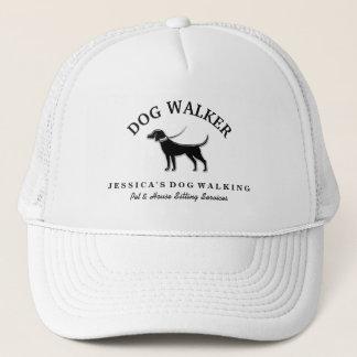 Dog Walker Custom Hat - Black Dog White Collar