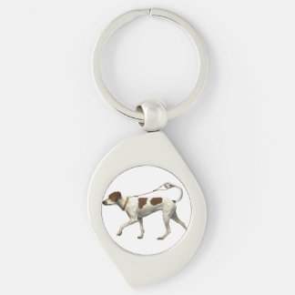 Dog walker - dog tail - braque saint germain keychain