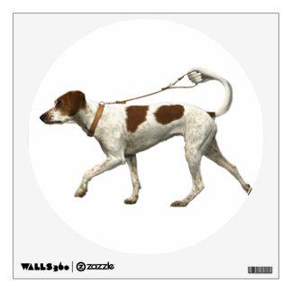Dog walker - dog tail - braque saint germain wall decal