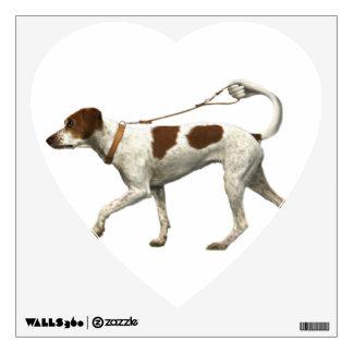 Dog walker - dog tail - braque saint germain wall sticker