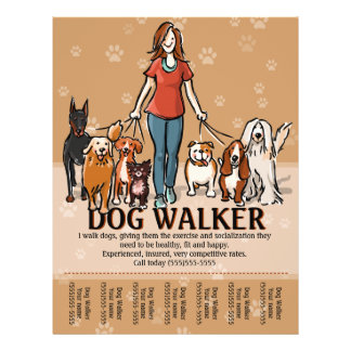 Dog walking business flyers programs zazzle dog walker dog walking advertising template flyer pronofoot35fo Choice Image
