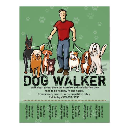 dog walker  dog walking  guy  grn  promotemplate flyer