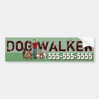 Dog Walker. Dog Walking. Promotional Bumper Sticker