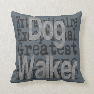 Dog Walker Extraordinaire Throw Pillow