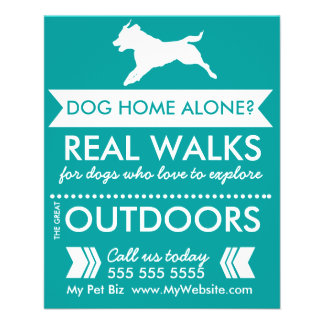 Dog walking flyers programs zazzle dog walker flyer personalizable pronofoot35fo Choice Image