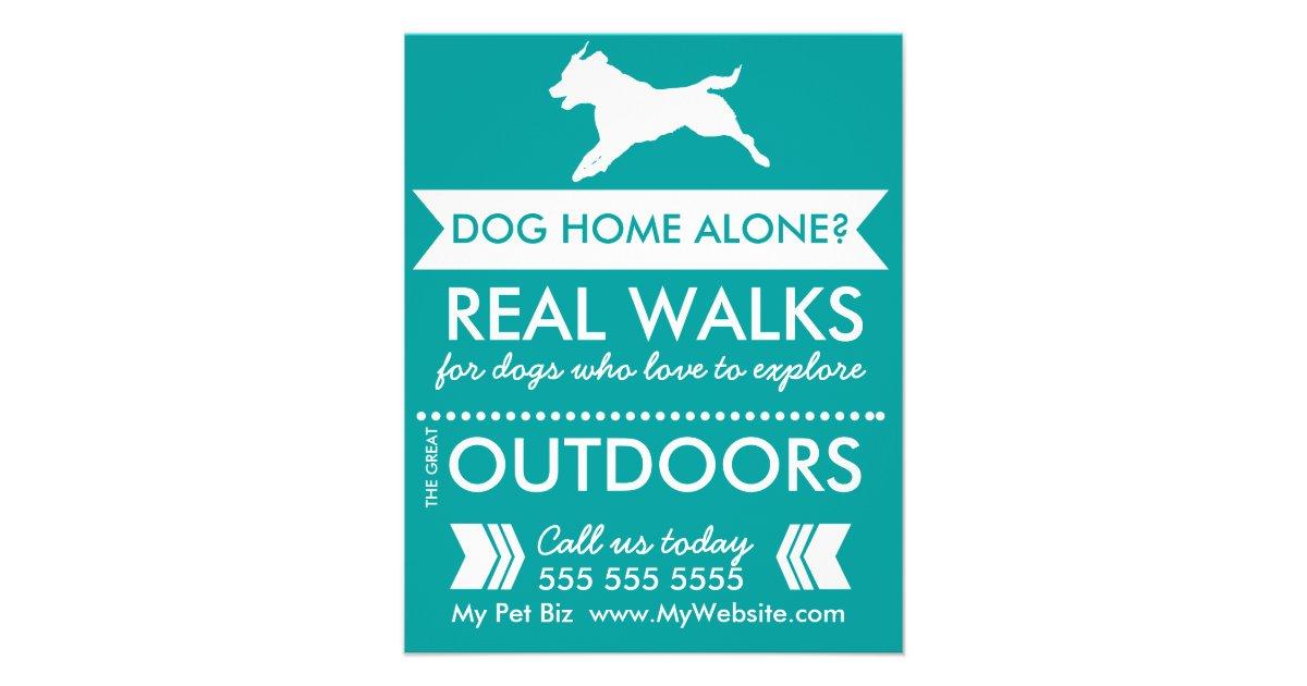 Dog Walking Flyers & Programs | Zazzle Dog Walker Flyer - Personalizable