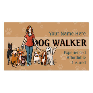 Dog Walker Fully customizable business card