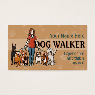 Dog Walker Fully customizable business card