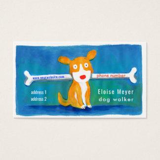 dog walker funny dog business card