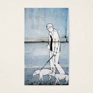 dog walker graffiti business card