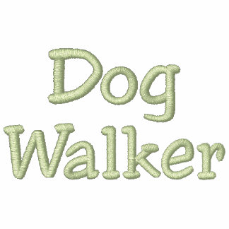 Dog Walker Green Thread Personalized Hoodies