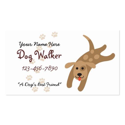Dog Walker/Groomer/Veterinarian Business Card